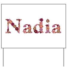 Nadia Pink Flowers Yard Sign