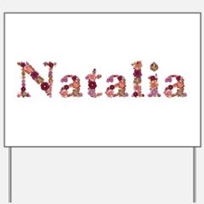 Natalia Pink Flowers Yard Sign