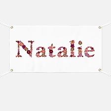 Natalie Pink Flowers Banner