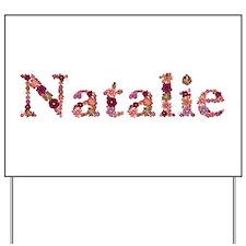 Natalie Pink Flowers Yard Sign