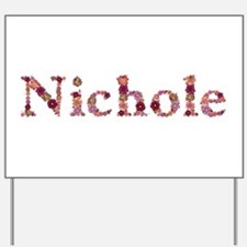 Nichole Pink Flowers Yard Sign