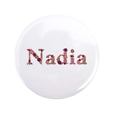 Nadia Pink Flowers Big Button 100 Pack