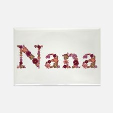 Nana Pink Flowers Rectangle Magnet 100 Pack