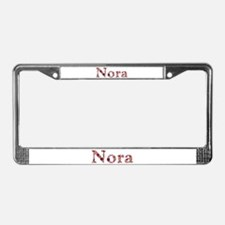 Nora Pink Flowers License Plate Frame