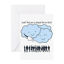 Cloud Mocks Human Shapes Funny Cartoon Greeting Ca