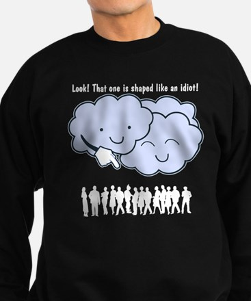 Cloud Mocks Human Shapes Funny Cartoon Sweatshirt