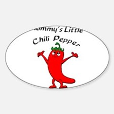 Mommy's Little Chili Pepper Oval Decal