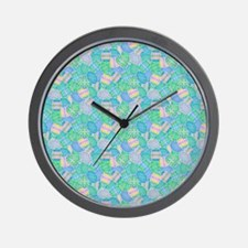 Colorful Eggs Wall Clock