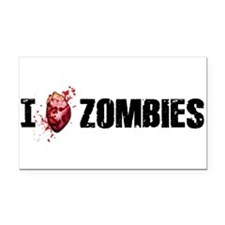 Cute I heart zombies Rectangle Car Magnet
