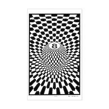 Checkered Eightball  Decal