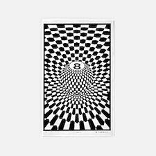 Checkered Eightball  3'x5' Area Rug