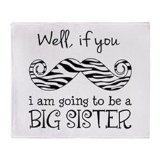 Im Going to be a Big Sister Throw Blanket
