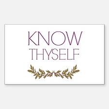 Know thyself Decal