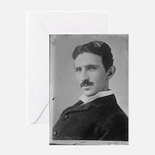 Nikola Tesla Image Greeting Cards