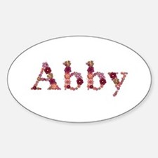 Abby Pink Flowers Oval Decal