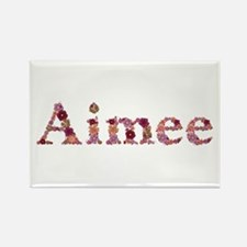 Aimee Pink Flowers Rectangle Magnet