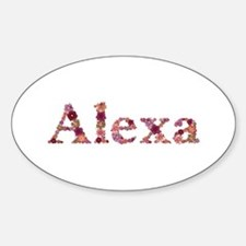 Alexa Pink Flowers Oval Decal