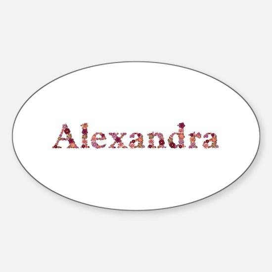 Alexandra Pink Flowers Oval Decal