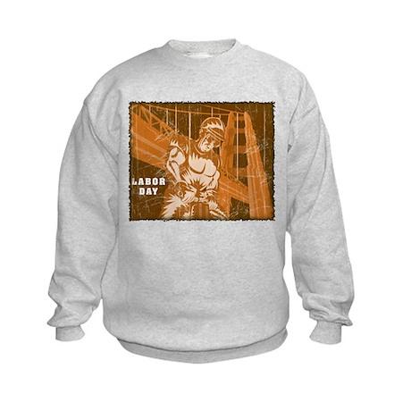 Vintage Labor Day Kids Sweatshirt