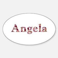 Angela Pink Flowers Oval Decal
