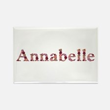 Annabelle Pink Flowers Rectangle Magnet