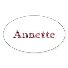 Annette Pink Flowers Oval Decal