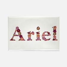 Ariel Pink Flowers Rectangle Magnet