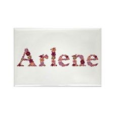 Arlene Pink Flowers Rectangle Magnet