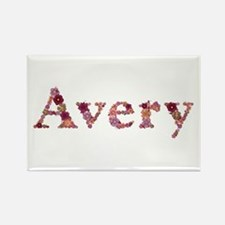 Avery Pink Flowers Rectangle Magnet