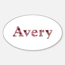Avery Pink Flowers Oval Decal