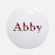 Abby Pink Flowers Round Ornament