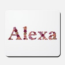 Alexa Pink Flowers Mousepad