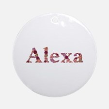 Alexa Pink Flowers Round Ornament