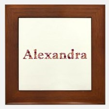 Alexandra Pink Flowers Framed Tile
