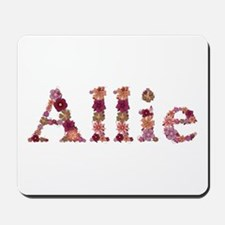 Allie Pink Flowers Mousepad