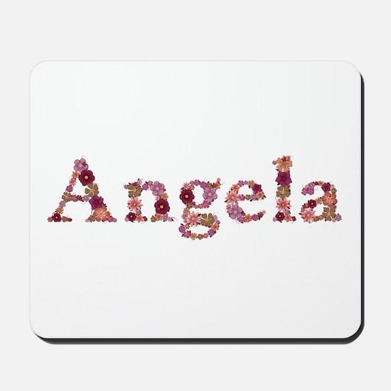 Angela Pink Flowers Mousepad