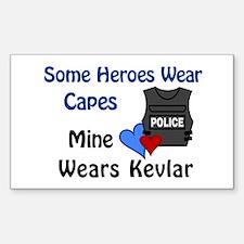 Kevlar Hero Rectangle Bumper Stickers