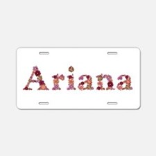 Ariana Pink Flowers Aluminum License Plate