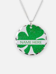 Custom Name Shamrock Necklace