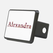 Alexandra Pink Flowers Hitch Cover