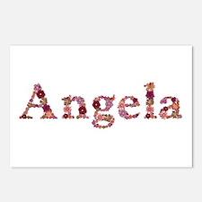 Angela Pink Flowers Postcards 8 Pack