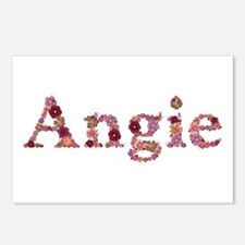 Angie Pink Flowers Postcards 8 Pack
