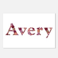 Avery Pink Flowers Postcards 8 Pack