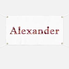 Alexander Pink Flowers Banner
