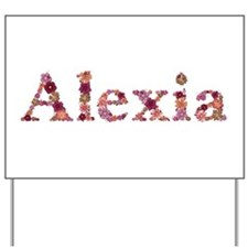 Alexia Pink Flowers Yard Sign