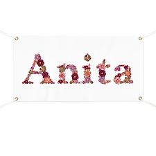 Anita Pink Flowers Banner