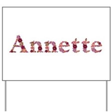 Annette Pink Flowers Yard Sign