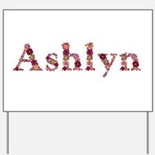 Ashlyn Pink Flowers Yard Sign