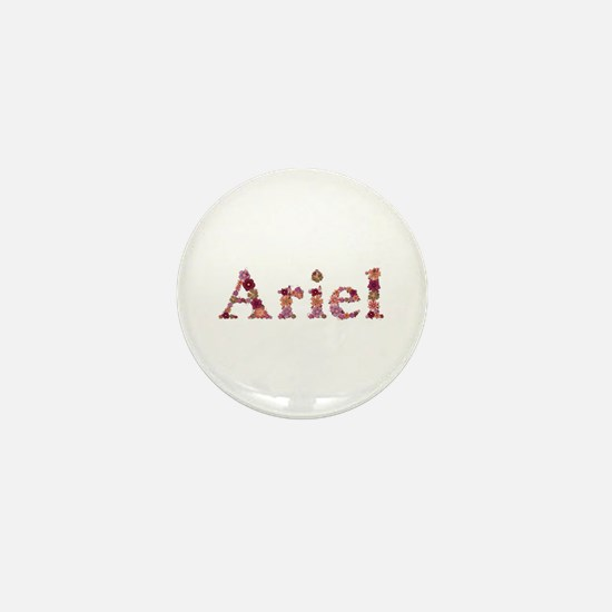 Ariel Pink Flowers Mini Button