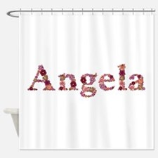 Angela Pink Flowers Shower Curtain